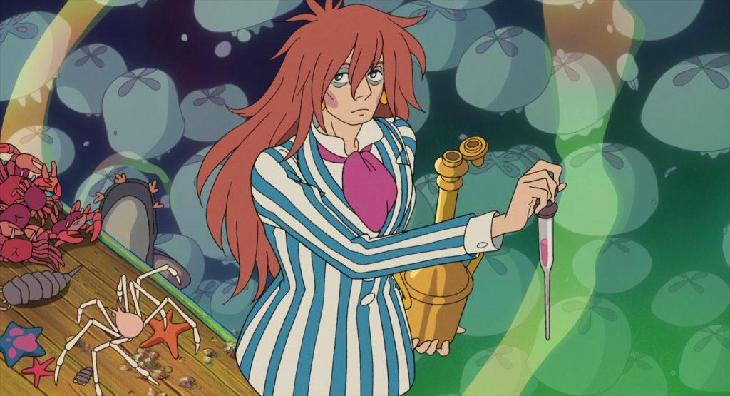 Fujimoto in una scena di Ponyo sulla scogliera